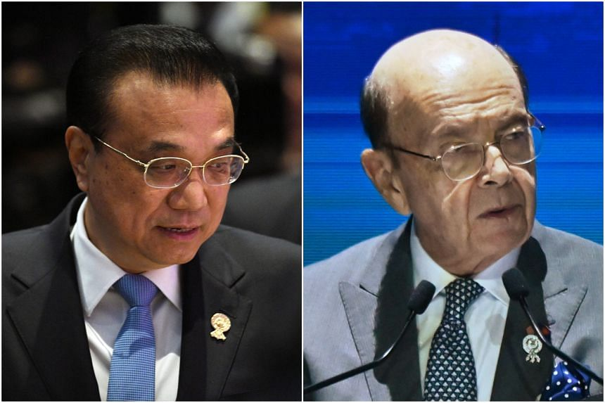 Chinese Premier Li Keqiang and US Commerce Secretary Wilbur Ross are both in Bangkok for the Asean summit.