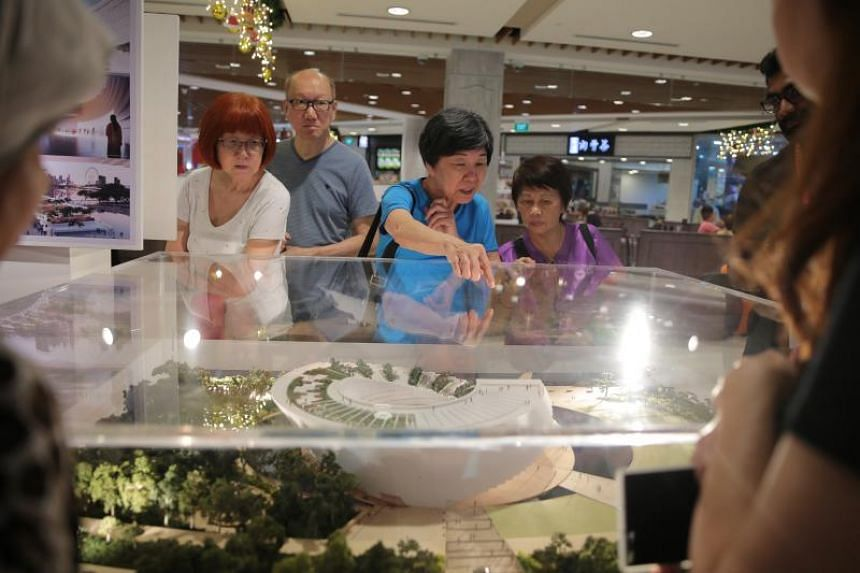 A roving exhibition has 3D models of the five shortlisted designs for the Founders' Memorial.