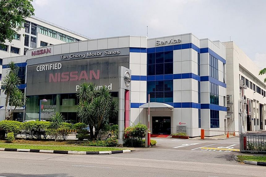 Tan Chong Motor's three-storey showroom in Toa Payoh Lorong 8, located on a 5,457.4 sq m plot next to a Subaru complex, is up for sale at $13.5 million. Its spokesman said the facility is underused. PHOTO: SAVILLS SINGAPORE