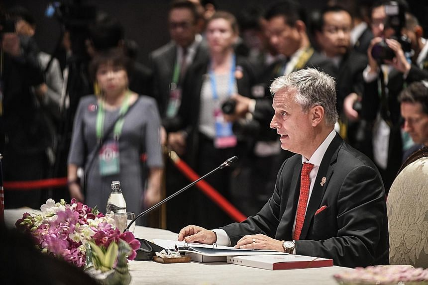 """At the Asean-US Summit, US National Security Adviser Robert O'Brien read out a letter from Mr Donald Trump in which the US President invited Asean leaders to the United States for a """"special summit"""" in the first quarter of next year. But one observer"""