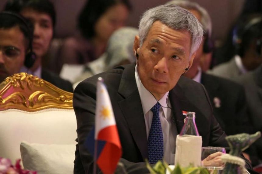 Prime Minister Lee Hsien Loong attends the 35th Asean Summit at Impact Muang Thong Thani, Thailand, on Nov 3, 2019. PM Lee said that international trade has been a key driver of global growth and prosperity since the end of World War II.