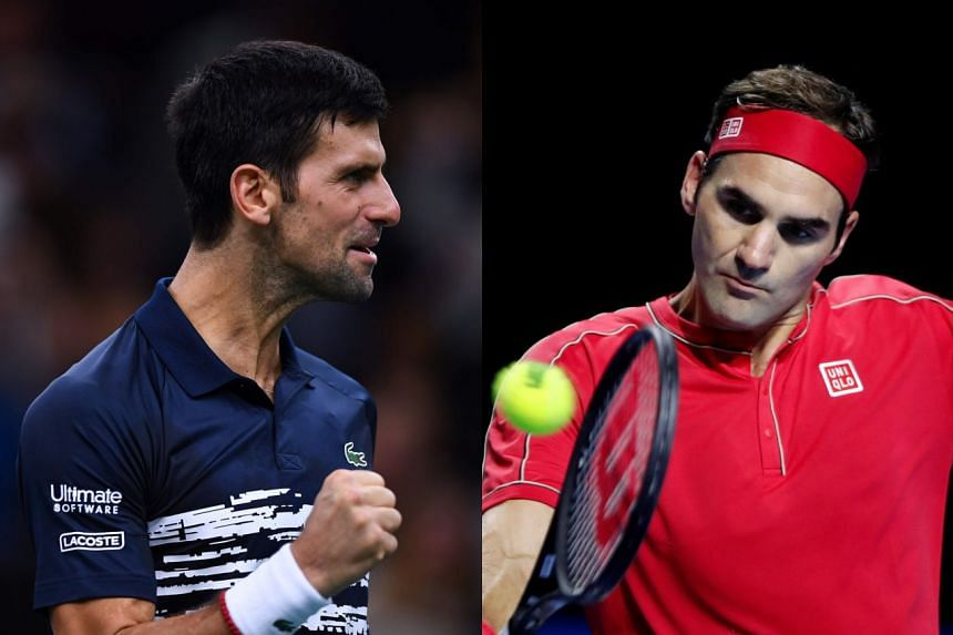 Federer (right) has won the ATP Finals a record six times, while Djokovic has won it five times.