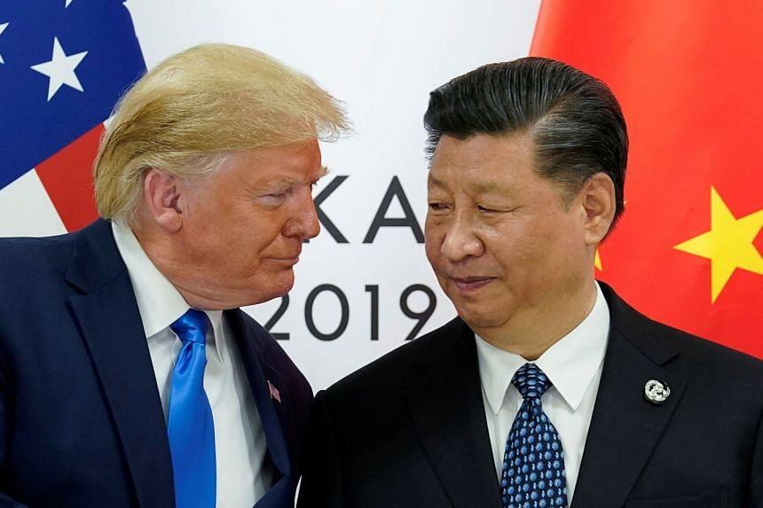 US President Donald Trump meets China's President Xi Jinping at the G-20 leaders summit in Japan, in June 2019.
