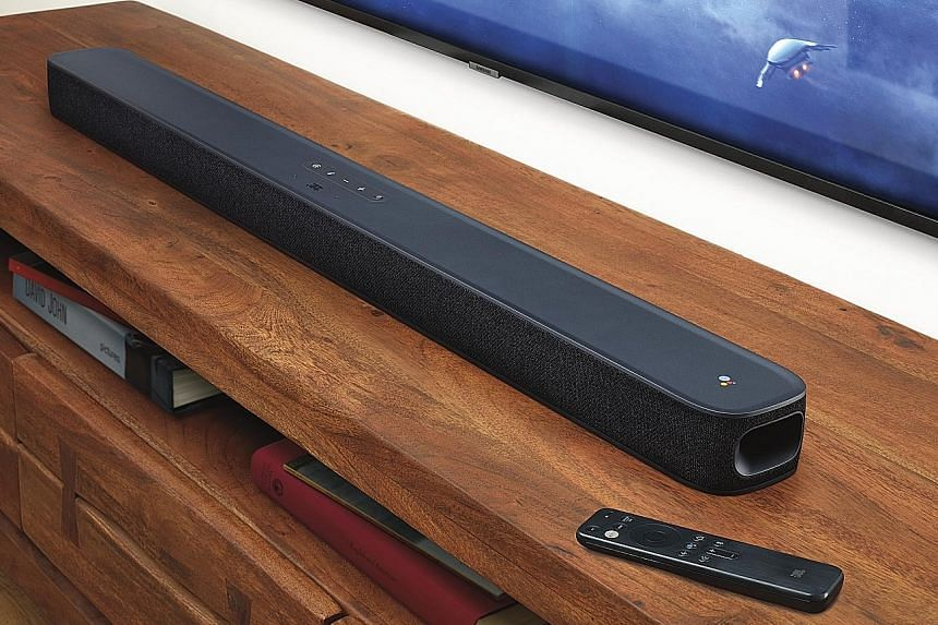 The JBL Link Bar is around 1m long and can be mounted on the wall or placed in front of the television.