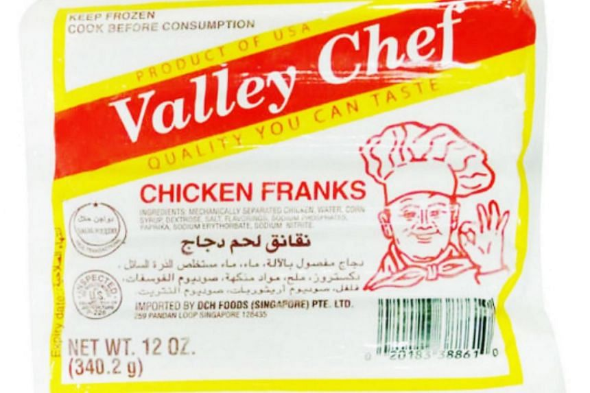 The chicken sausages are being sold online by a local supermarket chain.