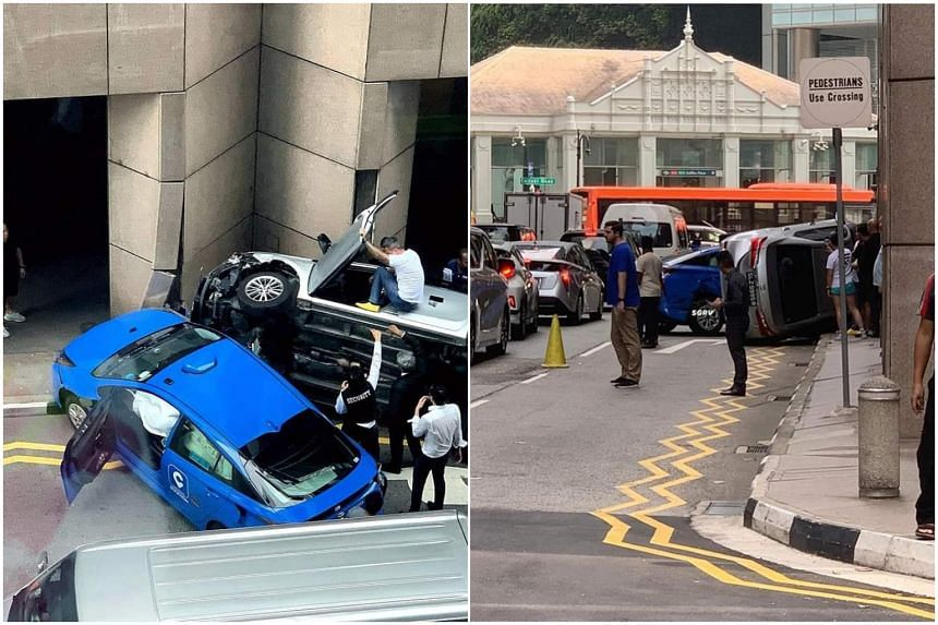 Photos of the aftermath quickly made the rounds online, with some netizens commenting that the scene looked like it came straight out of a Jackie Chan action movie set.