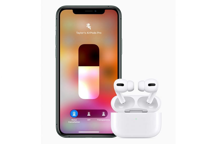 The AirPods Pro features a shorter stem and comes with active noise cancellation.