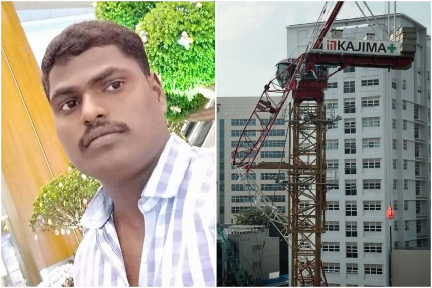 Mr Muthaiyan Velmurugan was killed in a work site accident in Novena when the horizontal beam of a tower crane collapsed while lifting around 300kg of scaffolding material.