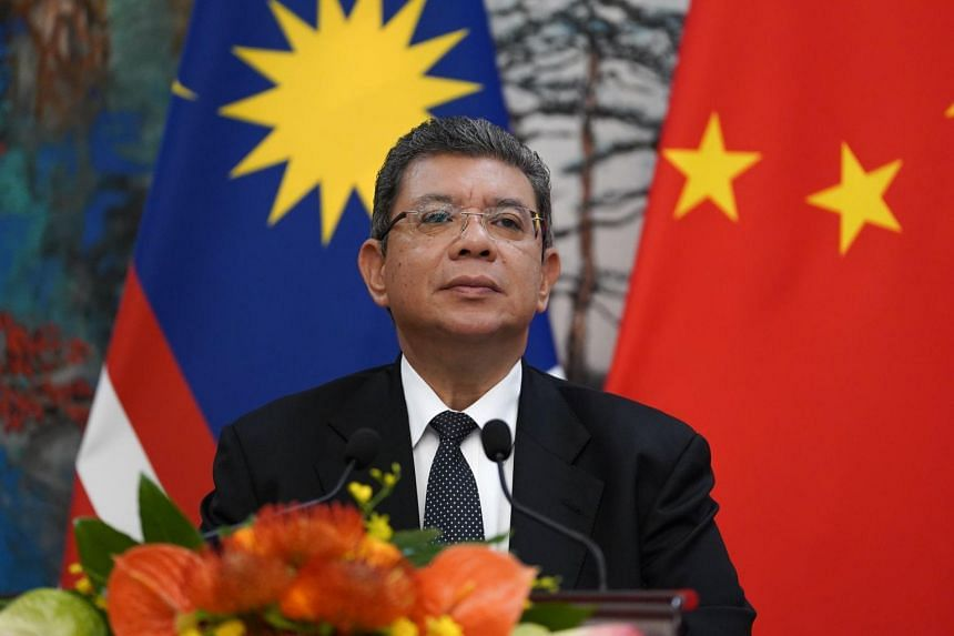 Malaysian Foreign Minister Saifuddin Abdullah attending a press conference in Beijing on Sept 12, 2019.