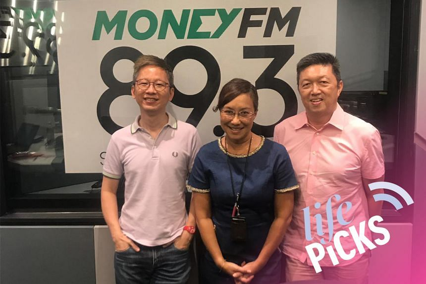 ST Life assistant editor Boon Chan (left) and ST food critic Wong Ah Yoke (right) share with Money FM's Claressa Monteiro (centre) their picks for the week.
