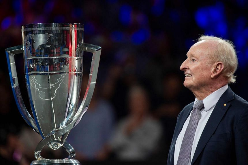 Former Australian tennis player Rod Laver at the 2019 Laver Cup tennis tournament in Geneva, Switzerland, on Sept 22, 2019.
