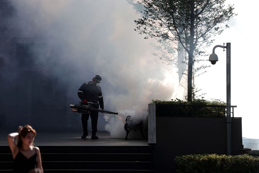 Mosquito fogging operations being carried out near Anchorpoint in Queenstown on July 12, 2019.