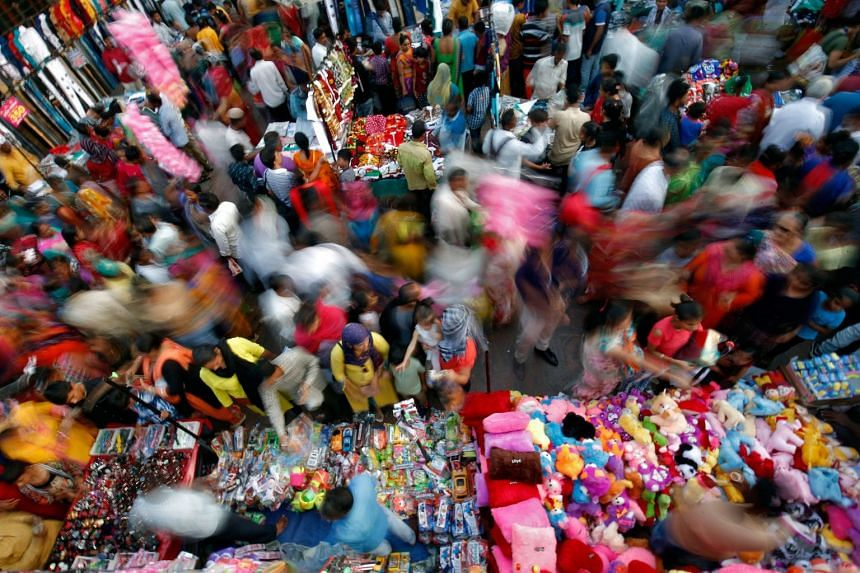 A market in Ahmedabad, India, on Oct 22, 2019.
