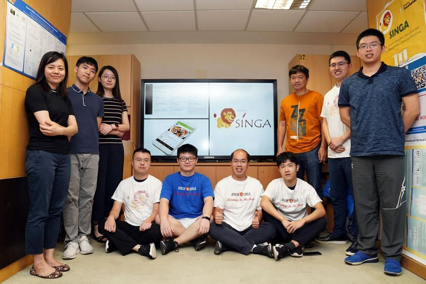 The NUS team, led by Professor Ooi Beng Chin (in orange) from the School of Computing, started working on Singa in 2014.