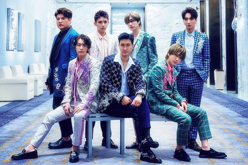 boy bands Super Junior (above)