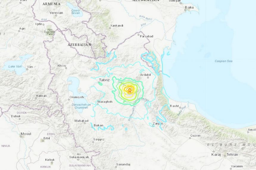 5.9 magnitude earthquake kills at least 5, injures 300 in northwestern Iran