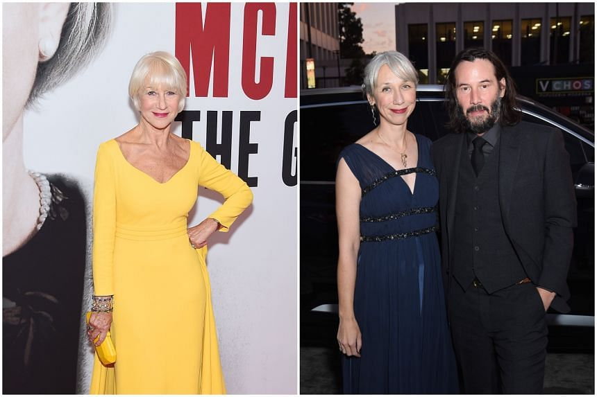Netizens have drawn comparions between actress Helen Mirren (left) and visual artist Alexandra Grant, who was seen with boyfriend Keanu Reeves.