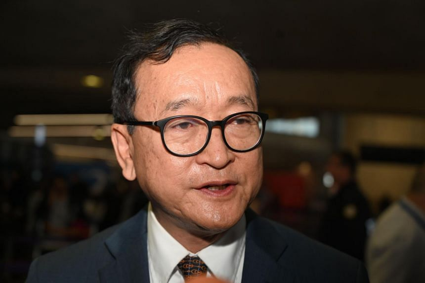 Self-exiled opposition Cambodian National Rescue Party co-founder Sam Rainsy said he had been prevented from checking-in for a flight from Paris to Bangkok on Nov 7.