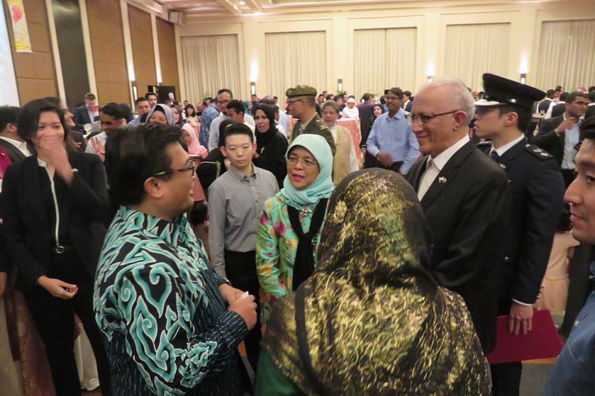 President Halimah attended a reception with the Singaporean community in Saudi Arabia on Nov 7, 2019.
