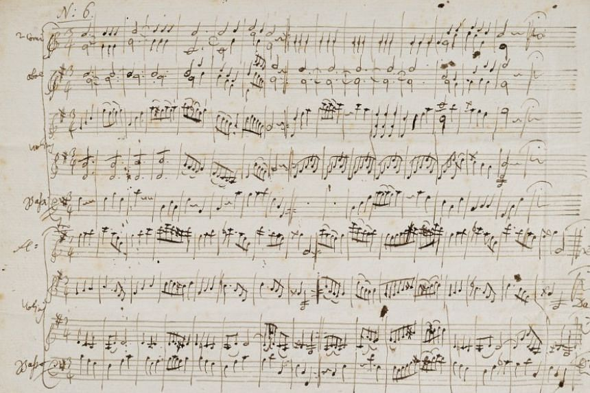 An original score of two minuets composed by Mozart when he was 16 are to be auctioned.