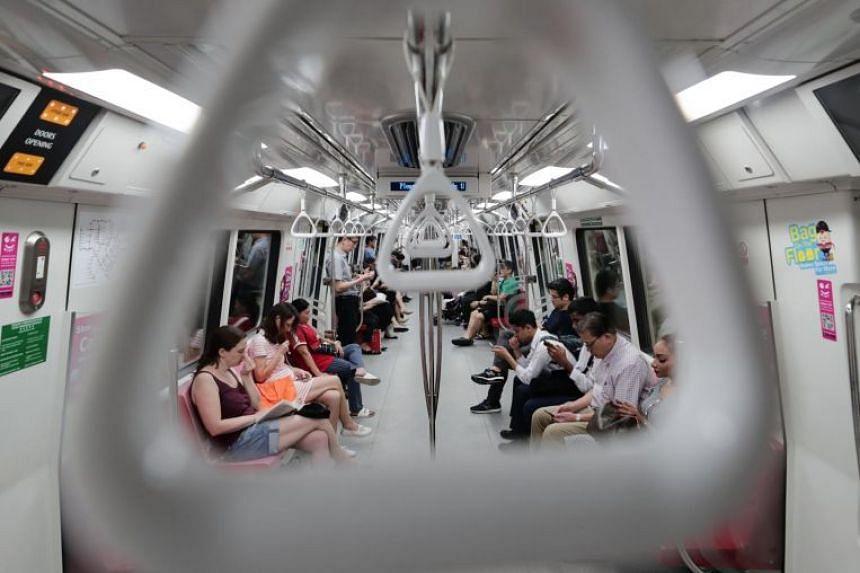 Non peak hours on the MRT on Oct 24, 2019.