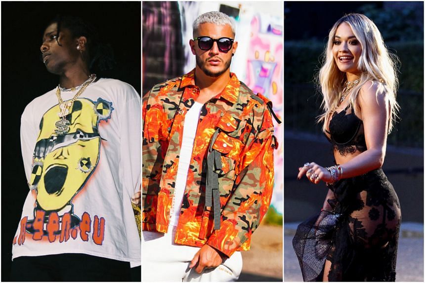 Rapper A$AP Rocky (left), electronic artist DJ Snake (centre) and pop act Rita Ora. Hydeout is being pegged as South-east Asia's answer to California's Coachella music festival.