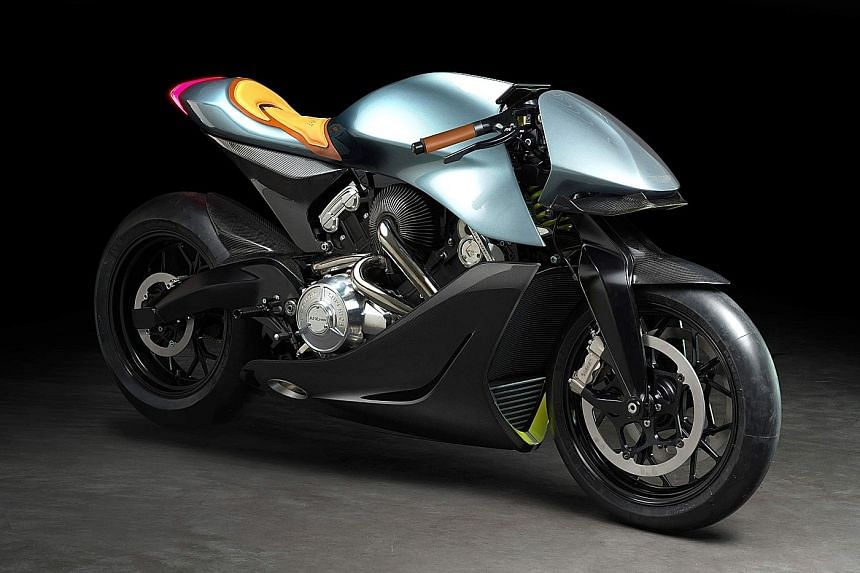 Only 100 units of Aston Martin's first motorcycle.