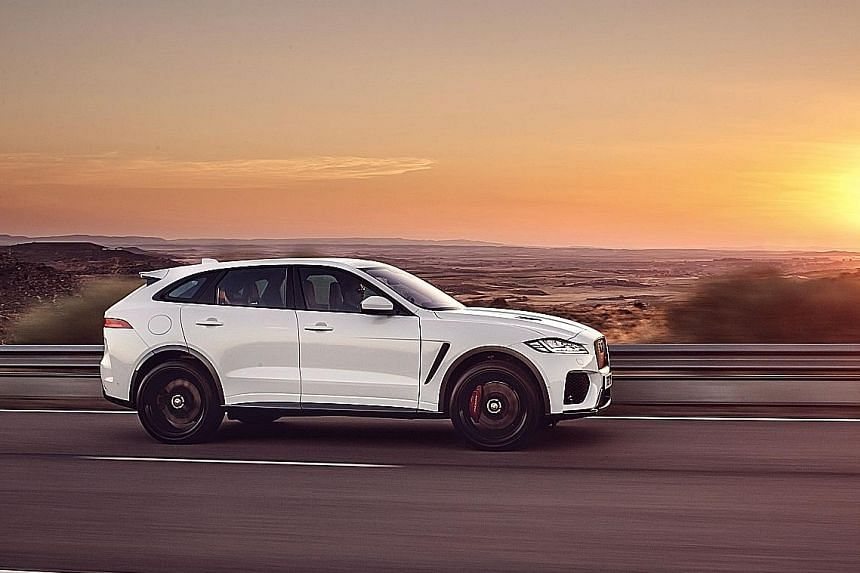 Jaguar F-Pace SVR available in Singapore.