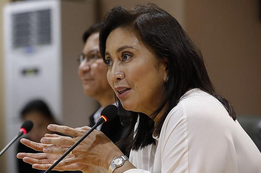 Philippine Vice-President Leni Robredo says the country's brutal war on drugs has failed to curtail a staggering rise in addiction. PHOTO: EPA-EFE