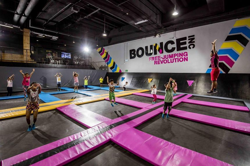 Kids learn to trampoline, and if they're tall enough (above 125cm), they can do an American Ninja Warrior style obstacle course at Tramp Camp by Bounce Singapore.
