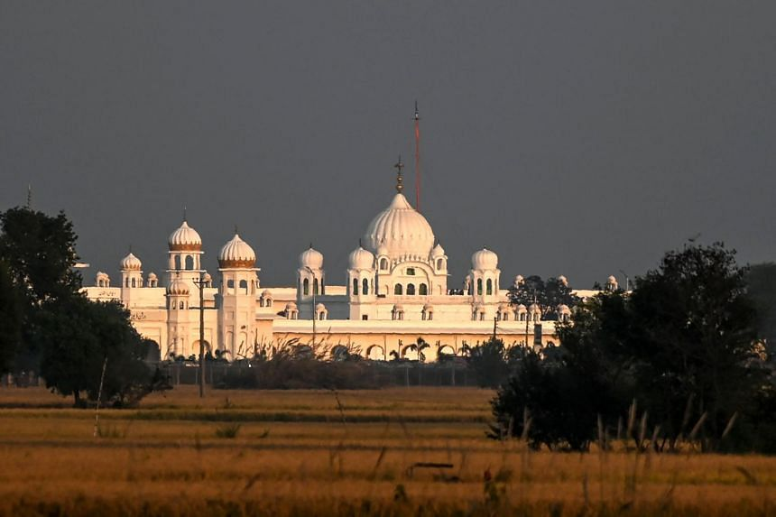 The shrine to Guru Nanak, the founder of Sikhism, lies in Kartarpur, a small town beside the River Ravi in central Punjab province where he is believed to have died.