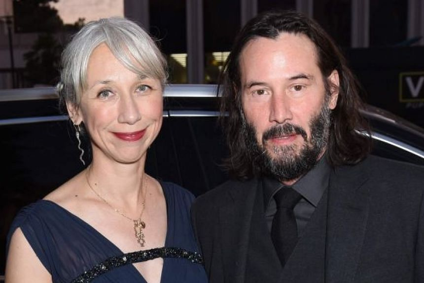Actor Keanu Reeves with girlfriend Alexandra Grant who is said to look like actress Helen Mirren