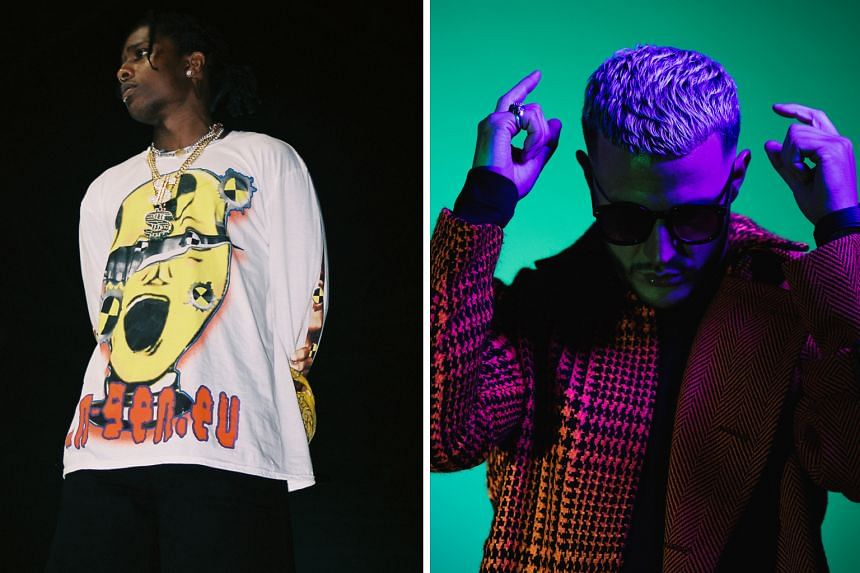 Rapper A$AP Rocky (left) and electronic act DJ Snake will play at Hydeout next year.