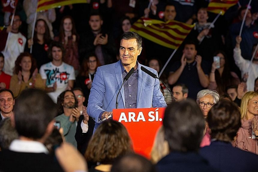 Acting Spanish Prime Minister Pedro Sanchez called the vote after failing to secure the necessary support to form a government.