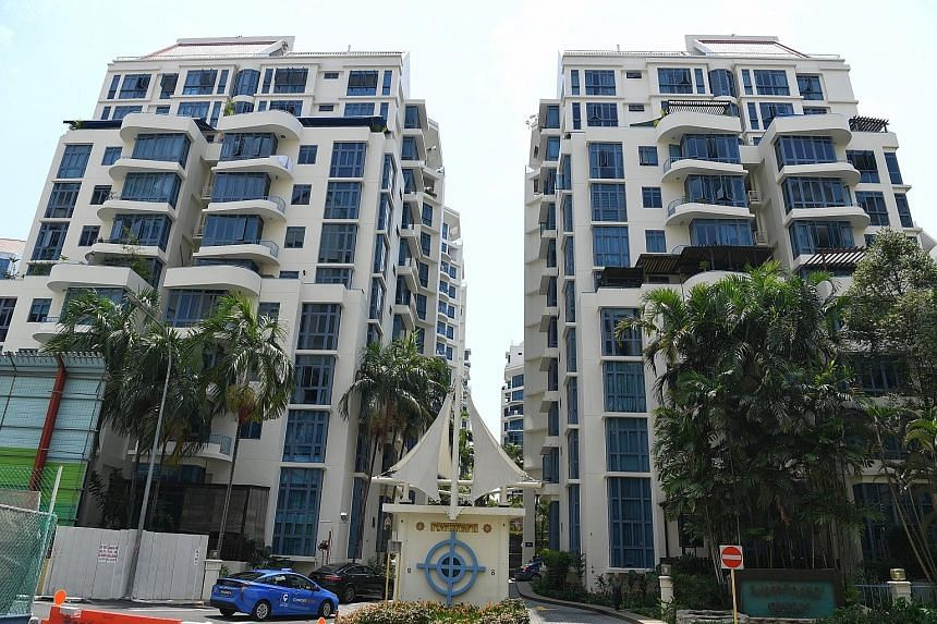 The management corporation of Sanctuary Green in Tanjong Rhu sought to force the sale of a unit whose owner is said to be owing more than $10,000 in management and sinking-fund fees, plus interest.
