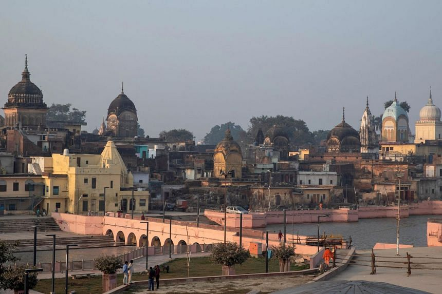 A view of Ayodhya seen after Supreme Court's verdict on a disputed religious site in India, on Nov 10, 2019.