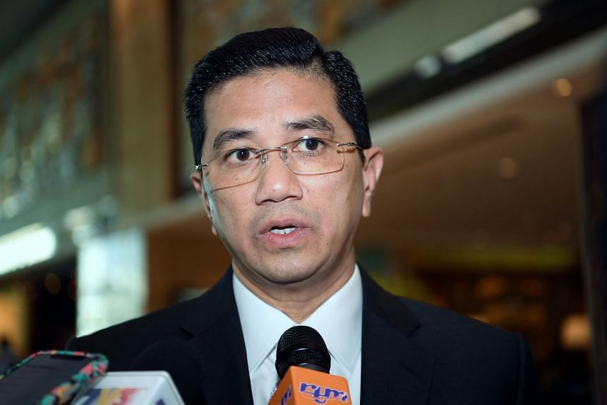 Economic Affairs Minister Azmin Ali during a press conference at Shangri La Hotel in Bankgkok, Thailand on June 22, 2019.