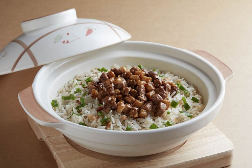 Claypot Rice With Diced Meat And Assorted Mushroom ($26, enough for four persons)