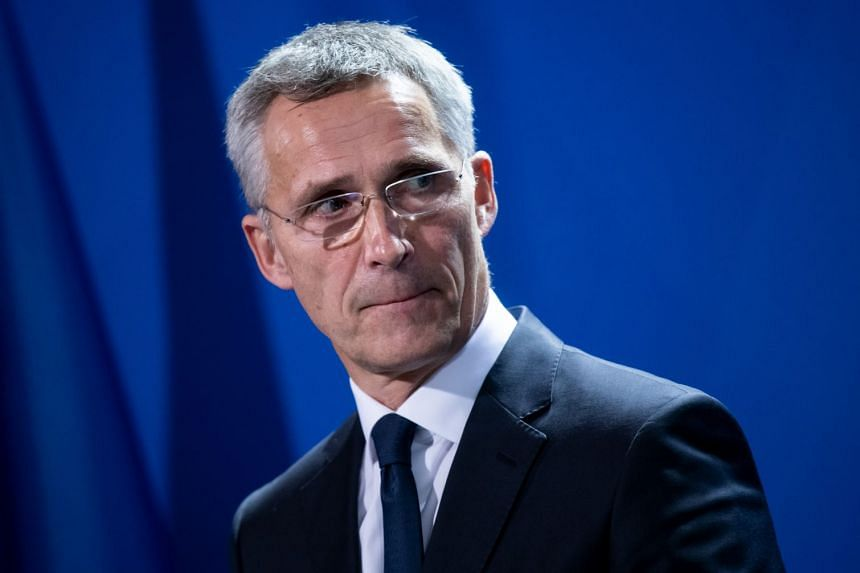 Nato's Jens Stoltenberg attends a joint press conference with German Chancellor Angela Merkel (not pictured) on Nov 7, 2019.