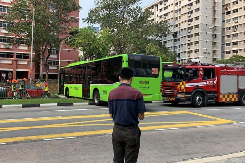 There were 15 passengers on the bus and all were uninjured.