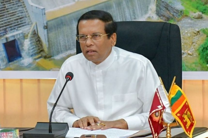 President Maithripala Sirisena (above) granted amnesty to convicted killer Jude Jayamaha, who comes from a wealthy, high-profile family.