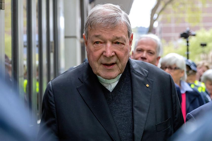 In a photo from Oct 6, 2017, Cardinal George Pell, a former Vatican treasurer, leaves the Melbourne Magistrates Court in Australia.