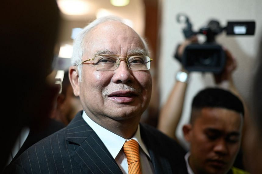 Former prime minister Najib Razak arrives for his trial at the High Court in Kuala Lumpur, on Nov 11, 2019.