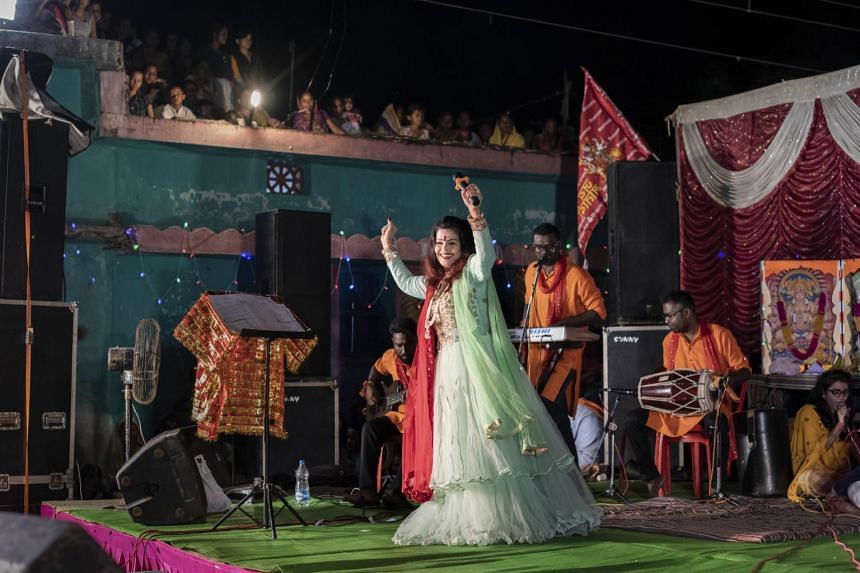 Singer Laxmi Dubey is one of the biggest stars driving the rise of Hindutva pop music in India over the last few years.