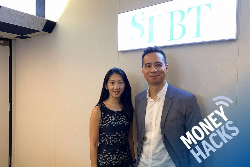 Natalia Goh (left), head of credit cards and personal loans at Standard Chartered Bank Singapore speaks with host Chris Lim (right) about credit cards for millennials.