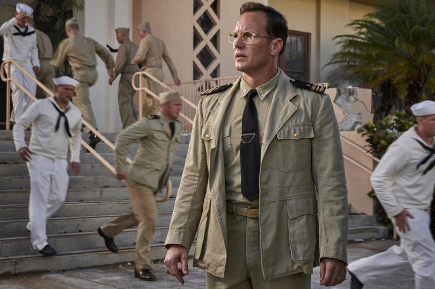 Actor Patrick Wilson stars as Naval intelligence officer Edwin Layton in Midway.