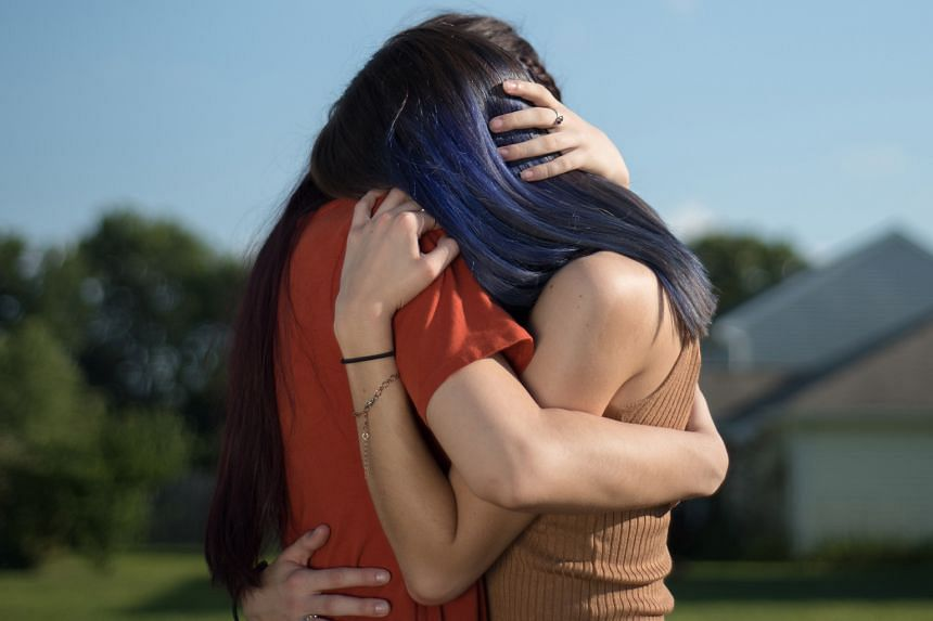 Sisters F and E (identities withheld) are survivors of child sexual abuse in the US whose photos and videos of their anguish have been preserved on online platforms. PHOTO: NYTIMES