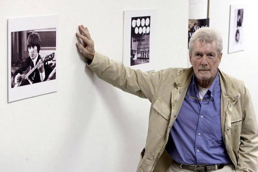 English photographer Robert Freeman at an exhibition of his photographs of George Harrison in Valencia, Spain, on Nov 27, 2006.