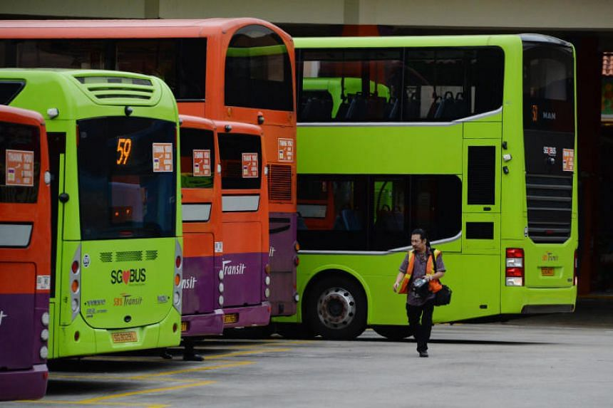 In this file picture taken on Oct 22, 2019, diesel buses are parked at the Bishan bus interchange.