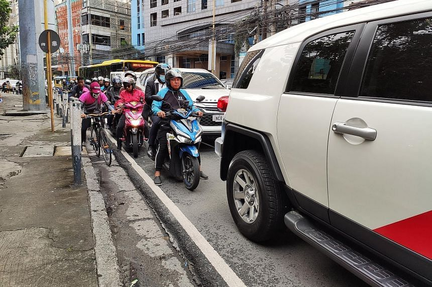 Ms Angeline Tham set up a motorcycle ride-hailing company in Manila after finding herself stuck in traffic for hours in the gridlocked Philippine capital.